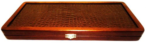 21-Big-Backgammon-Set-Turtle-Leather-Skin-Board-Game-Natural-Wood-Pieces-Dices-0-0