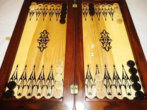 21-Big-Backgammon-Set-Turtle-Leather-Skin-Board-Game-Natural-Wood-Pieces-Dices-0-4