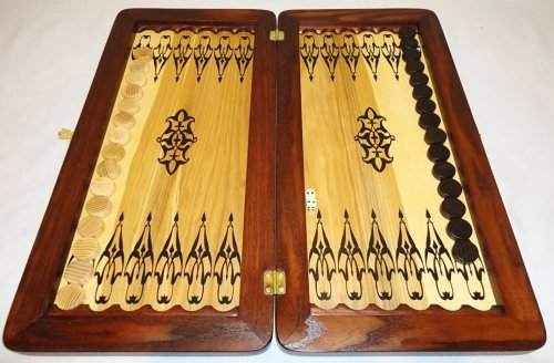 21-Big-Backgammon-Set-Turtle-Leather-Skin-Board-Game-Natural-Wood-Pieces-Dices-0-5