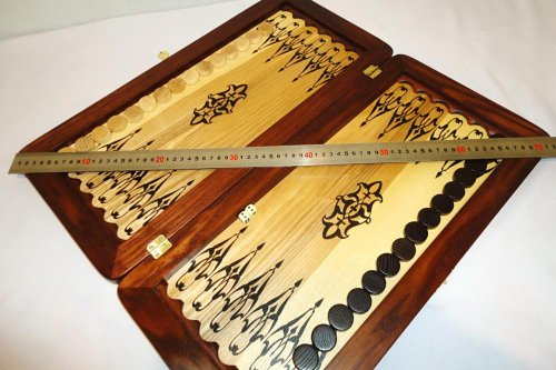 21-Big-Backgammon-Set-Turtle-Leather-Skin-Board-Game-Natural-Wood-Pieces-Dices-0-6