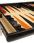 Professional-Leather-Backgammon-Set-21-BlackBeige-Board-0-0
