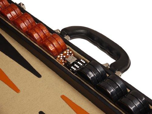 Professional-Leather-Backgammon-Set-21-BlackBeige-Board-0-1