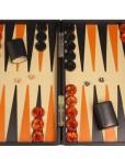 Professional-Leather-Backgammon-Set-21-BlackBeige-Board-0