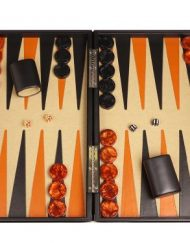 Professional-Leather-Backgammon-Set-21-BlackBeige-Board-0