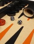Professional-Leather-Backgammon-Set-21-BlackBeige-Board-0-2