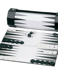 Scarletta-Black-and-White-Laminate-Board-Backgammon-Set-9-Inch-Roll-Up-Game-0