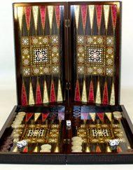 Sophia Pink And Purple Leatherette Backgammon Set 15