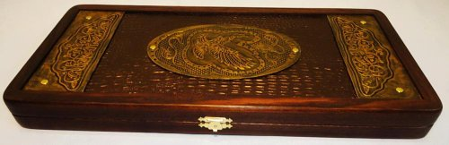 21-Golden-Eagle-Russian-Luxury-Backgammon-Set-Leather-Pieces-Tournament-Board-0-0