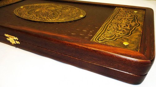 21-Golden-Eagle-Russian-Luxury-Backgammon-Set-Leather-Pieces-Tournament-Board-0-1