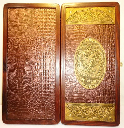 21-Golden-Eagle-Russian-Luxury-Backgammon-Set-Leather-Pieces-Tournament-Board-0-4