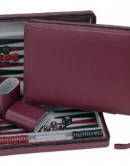WE-Games-Burgundy-Magnetic-Backgammon-Set-with-Carrying-Strap-Travel-Size-0