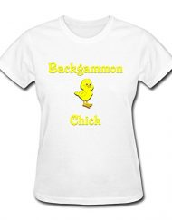Backgammon-Chick-T-Shirt-For-Women-O-neck-Gray-0