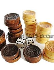 Wood-Checkers-Backgammon-Pieces-Dice-Natural-Dark-Brown-Wooden-0