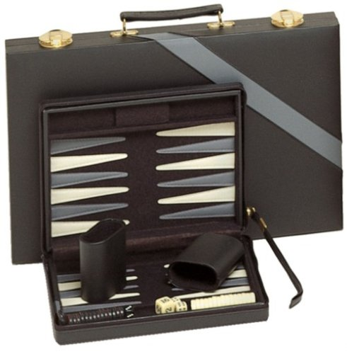 Compact-Travel-Magnetic-Backgammon-with-Carrying-Strap-Black-with-Grey-Stripe-0