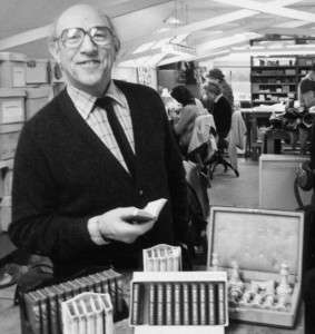Geoffrey Parker began his business around 1960 with little arrangements of leather bound miniature books until he was approached by Alfred Dunhill to make chess board sets.